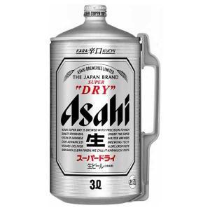 アサヒ スーパードライ ミニ樽アルミ 3L 3000m x 6本 送料無料※(本州のみ) (国産/ビール/ミニ樽/ALC 5%)|yo-sake