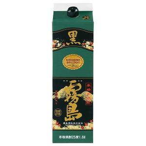 黒霧島 芋焼酎 25度 1.8L 1800ml パック あすつく (霧島酒造/宮崎県)|yo-sake