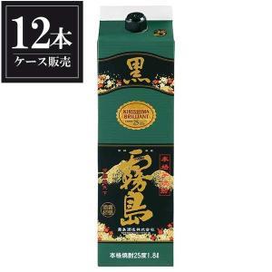 黒霧島 芋焼酎 25度 1.8L 1800ml パック x 12本 あすつく (ケース販売) (霧島酒造/宮崎県)|yo-sake