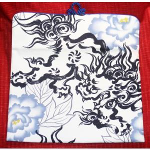 B5サイズ、iPad Air、iPad Pro対応【獅子狛犬青】タブレットケース 特|yo-yamato