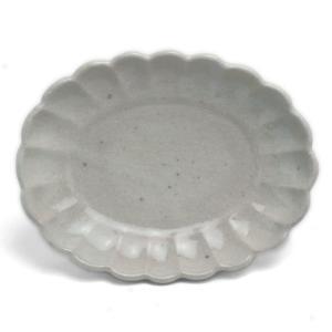 長石釉楕円菊皿・有光武元《小皿・17.0cm》|yobi