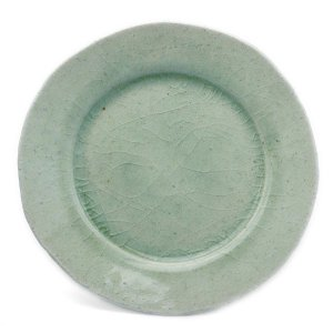灰釉ビードロ5.0寸◎皿・有松進《小皿・15.0cm》|yobi