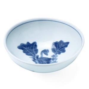 染付なずな文玉割鉢・植山昌昭《小鉢・玉割・取り鉢・14.0cm》|yobi