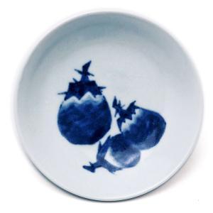 4寸丸茄子文皿・植山昌昭《小皿・12.8cm》|yobi