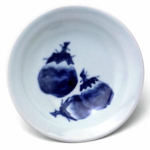 4寸丸茄子文皿・縁あり・植山昌昭《小皿・12.8cm》|yobi