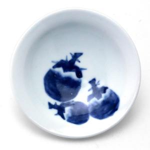 3寸丸茄子文皿・縁あり・植山昌昭《小皿・10.5cm》|yobi