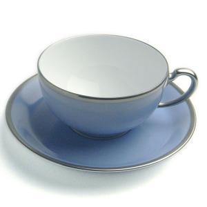 磁器:トワエモア ブルー ティー碗皿・大倉陶園《ティーカップ・皿セット》|yobi