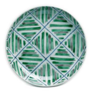 九谷焼:色絵綾文皿・小・須田菁華《小皿・14.0cm》|yobi