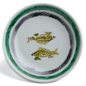 九谷焼:色絵コマニ双魚文皿・須田菁華《小皿・12.2cm》|yobi