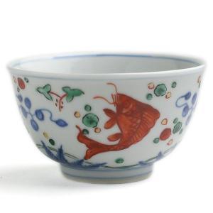 九谷焼:万暦赤絵竜文茶碗・須田菁華《汲出・9.5cm》|yobi