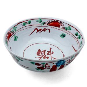 九谷焼:呉須赤絵魁字鉢・須田菁華《大鉢・盛鉢・20.5cm》|yobi