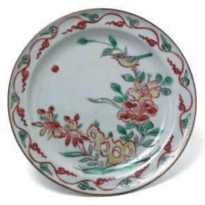 九谷焼:古赤絵花鳥文皿・須田菁華《小皿・14.2cm》|yobi