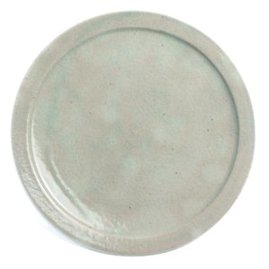 伊賀焼:白釉縁付8寸皿・杉本寿樹《大皿・24.3cm》 yobi