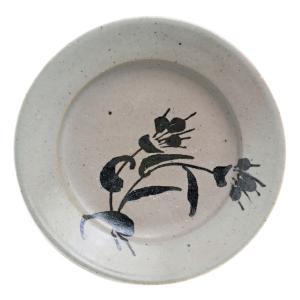 伊賀焼:雅造つゆ草絵皿・土楽・福森雅武《小皿・16.0cm》|yobi