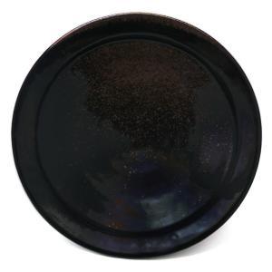 唐津焼:黒唐津六寸五分皿・中村恵子《中皿・6.5寸・20.0cm》|yobi