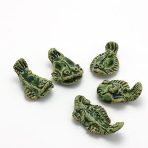 織部焼:織部魚箸置・5個1組・長森慶《箸置き》|yobi
