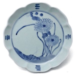 染付:菊花文輪花5寸深皿・藤塚光男《小皿・15.5cm》|yobi
