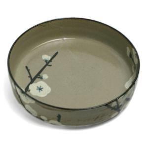 京焼・乾山銹絵呉須梅文平向付・伏原博之《小鉢・15.0cm》|yobi