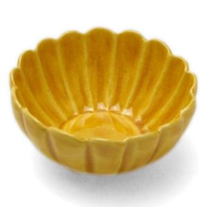 黄交趾菊形豆鉢・伏原博之《小付・5.7cm》 yobi