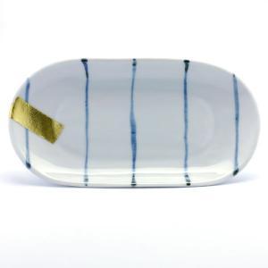 《定期販売》染付金箔小判中皿・古川章蔵《中皿・23.0cm》|yobi