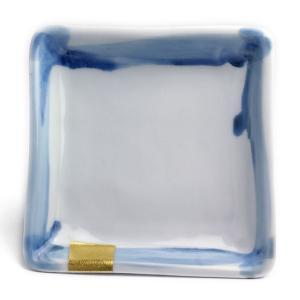 《定期販売》金箔染付角小皿・古川章蔵《小皿・11.0cm》|yobi