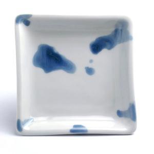 《定期販売》染付水滴角小皿・古川章蔵《小皿・11.0cm》|yobi