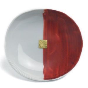《定期販売》赤かきわけ丸小皿・古川章蔵《小皿・10.5cm》|yobi