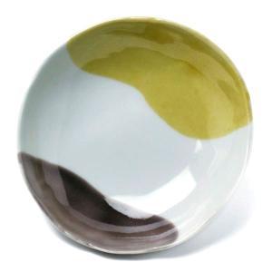 《定期販売》二色流し丸小皿・黄紫・古川章蔵《小皿・10.5cm》|yobi