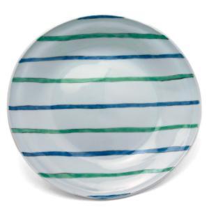 《定期販売》色絵青緑線タタラ丸皿・古川章蔵《大皿・24.5cm》|yobi