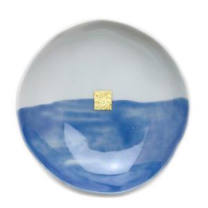 青かきわけ丸小皿・古川章蔵《小皿・10.5cm》|yobi