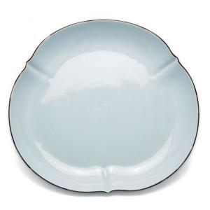 白磁:白磁口紅三ツ輪花変形皿・水野克俊《中皿・扁形皿・21.0cm》 yobi