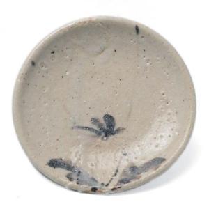志野焼:志野菊之文小皿・瀧川恵美子《小皿・11.8cm》|yobi