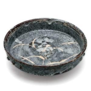 志野焼:鼠志野芦文向付・三つ足・瀧川恵美子《小鉢・15.5cm》|yobi