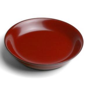 漆器・椿皿No.1・朱・奥田志郎《中皿・直径16.5cm》 yobi