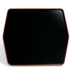 黒縁朱亀甲型デザート盆・藤井収|yobi