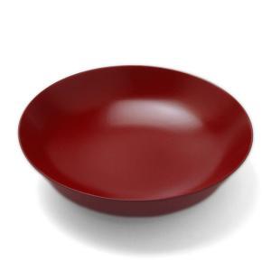 漆器:栓8寸深鉢・朱・守田漆器《大鉢・24.0 cm》 yobi