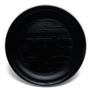 漆器・黒錆刷毛目宗寛盆8寸・守田漆器《大皿・24.2cm》 yobi