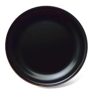 漆器・木地溜宗寛盆7寸・守田漆器《銘々皿・菓子皿・ケーキ皿・取り皿・21.3cm》 yobi