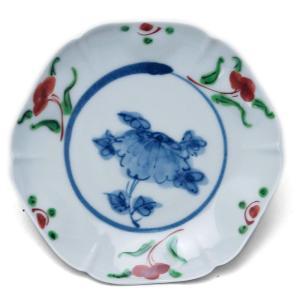 呉須赤絵六角打込皿・土山敬司《小皿・14.5cm》|yobi