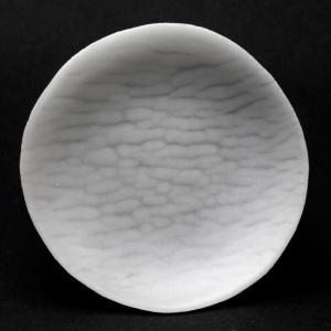 ガラス:さざなみ紋小皿8cm・透・d.Tam《豆皿・8.0cm》 yobi