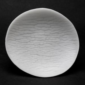 ガラス:さざなみ紋小皿10cm・透・d.Tam《豆皿・10.0cm》 yobi