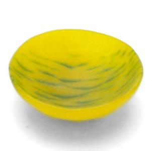 ガラス:ざなみ紋豆鉢6cm・黄・d.Tam《豆皿・小付・5.8cm》|yobi