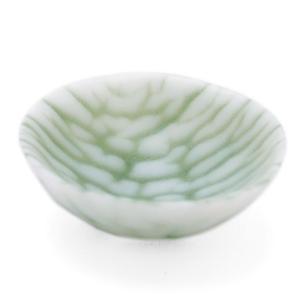 ガラス:さざなみ紋豆鉢6cm・オリーブグリーン・d.Tam《豆皿・小付・5.8cm》|yobi