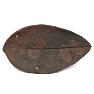 焼〆朴葉皿・辻村塊《小皿・19.0cm》|yobi