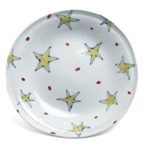 《定期販売》色絵きらきら星タタラ丸皿・古川章蔵《大皿・24.5cm》|yobi