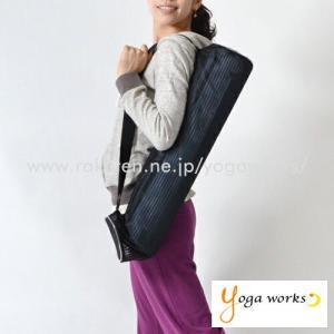 メール便の場合送料無料 ヨガマット ケース ヨガワークス yoga works ネットバッグ 6mmマット対応 |yoga-pi