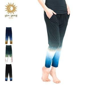 ヨガウェア ヨガパンツ アンクルパンツ ヨガウェア yinyang ヨガパンツ 172bb02 かわいい ヨガ ピラティス ブランド yoga-pi