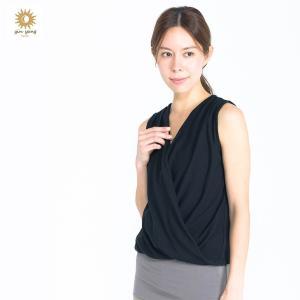 【SALE セール】 yinyang ツイストジレ ヨガウェア トップス タンクトップ インヤン KYOTO ヨガ ブランド ピラティス yoga-pi