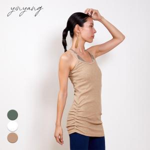 インヤン ヨガウェア トップス yinyang キャミソール キャミロングチュニック|yoga-pi