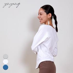 インヤン ヨガウェア トップス yinyang Tシャツ 長袖 ドルマンプルオーバー インヤン|yoga-pi